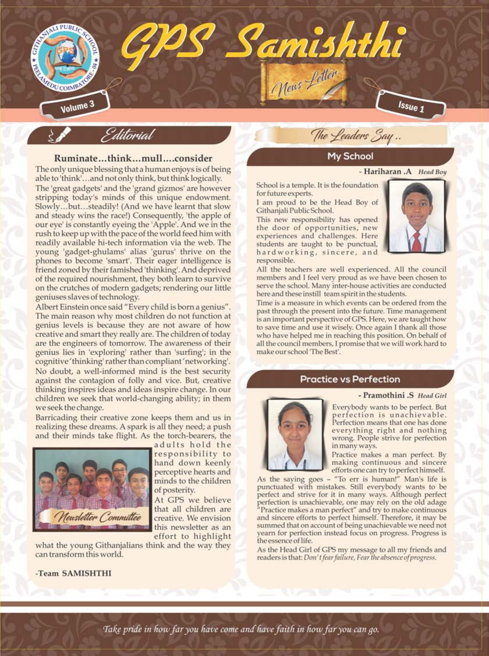 NEWSLETTER ISSUE 1 - PAGE 1